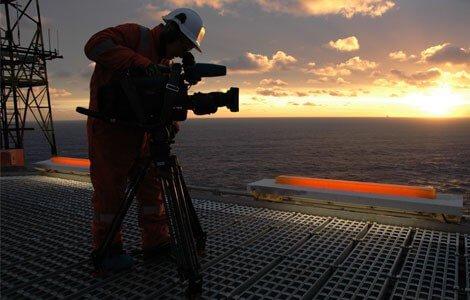 Filmproduksjon, industri, bedrift, plattform, nordsjøen, olje, oljeriket