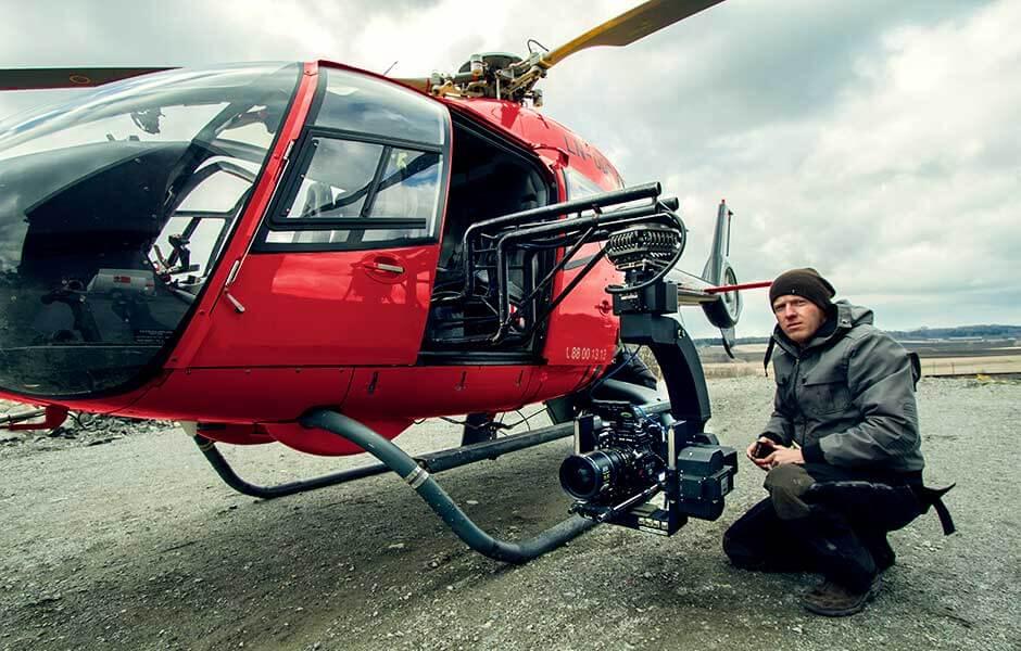 Helikopter, gyro, RED, filmproduksjon, reklamefilm, helikopterfilming, rigg, foto, foto fra luften, Anders Jørgensen, luftfoto, filming fra luften